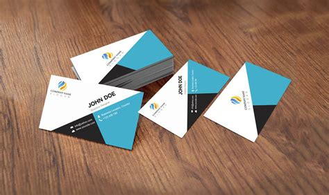 free flat card templates 20 free business card templates psd psd