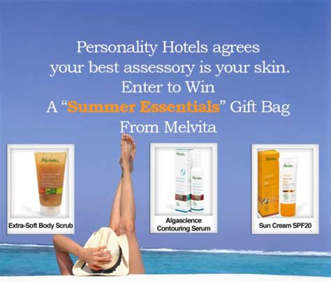 Your Skin And Win by Personality Hotels Shares Summer Tips