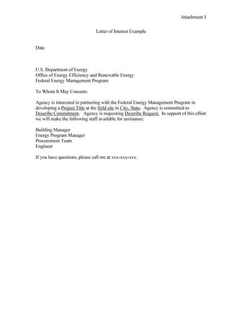 job interest letter sample memo example