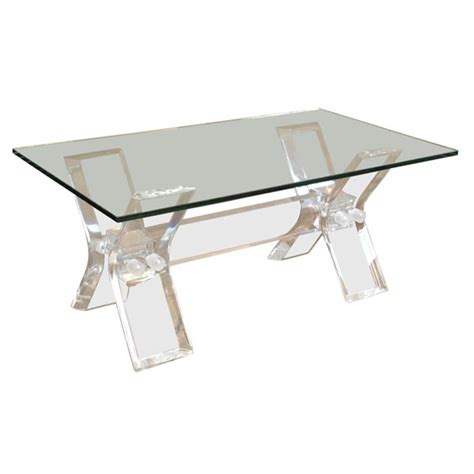 Lucite And Glass Coffee Table Lucite And Glass Coffee Table At 1stdibs