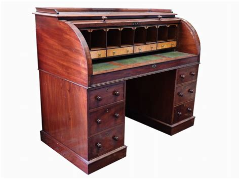 scrivania grande interesting grande scrivania a rullo in piuma di mogano