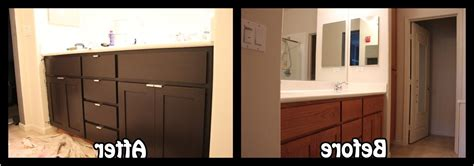 refacing bathroom cabinets before after kitchen cabinet