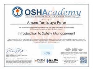 my first osha certificate