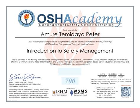 osha piv certification card template osha certification images