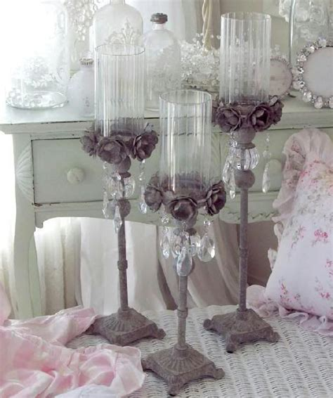 home goods crystal ls architectural french gray tole roses crystal prisms candle