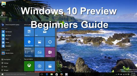 windows 10 tutorial for beginners windows 10 preview tips tricks features tutorial