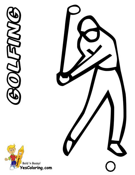two fisted golf coloring golf sports coloring free