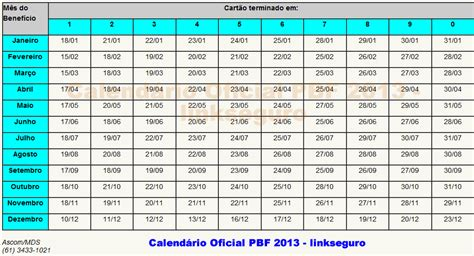 Calendario Bolsa Familia 2014 Bolsa Fam 205 Lia 2013 2014 Cadastro Calendario