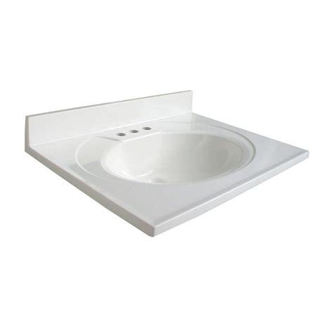 Ab Composite Vanity Top glacier bay newport 25 in ab engineered composite vanity top with basin in white n25gb w the