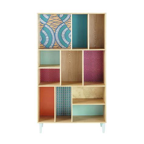 librerie maison du monde biblioth 232 que en bois multicolore l 100 cm bamako maisons