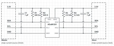 decoupling capacitor i2c isolation can t drive i2c low electrical engineering stack exchange