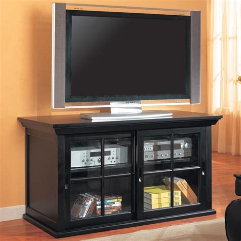 Glass Tv Cabinets With Doors Tv Stands With Glass Doors Home Design Ideas