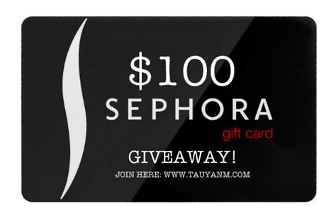 You Could Win 100 Gift Certificate To Sephora by Giveaway Win A 100 Gift Card From Sephora Open