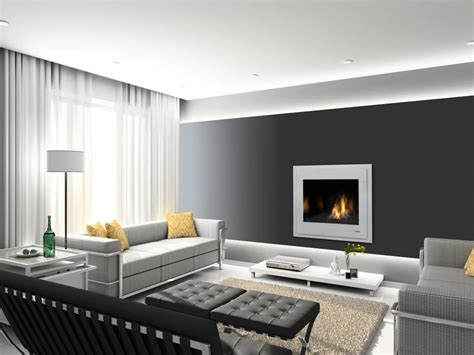 best white ceiling paint color with gray walls for warm living room using gas fireplace