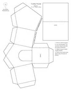 paper house templates to print paper houses cutouts print the cubby house template out