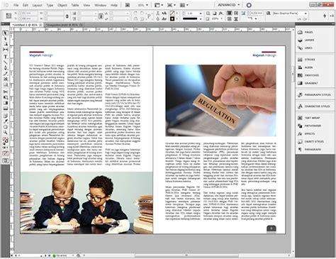 majalah in design cara membuat layout majalah sederhana dengan indesign