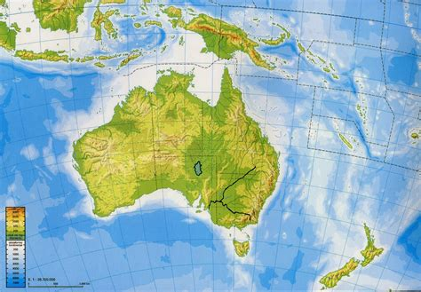 physical map of oceania geography and history asia and oceania physical maps