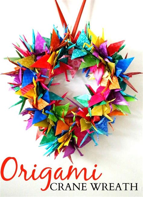 Origami Wreath Tutorial - origami crane wreath craft tutorial raising whasians