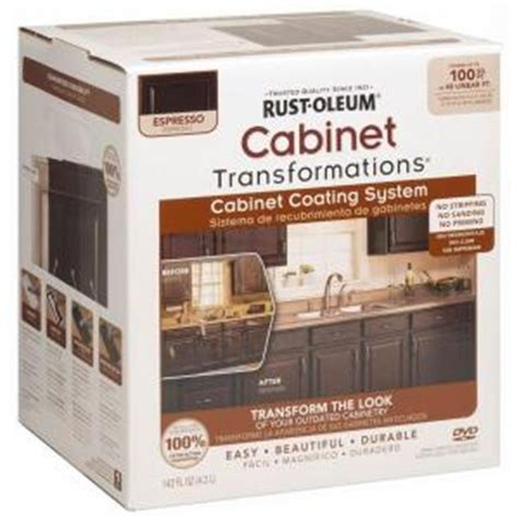 home depot cabinet paint kit rust oleum transformations 1 qt espresso small cabinet