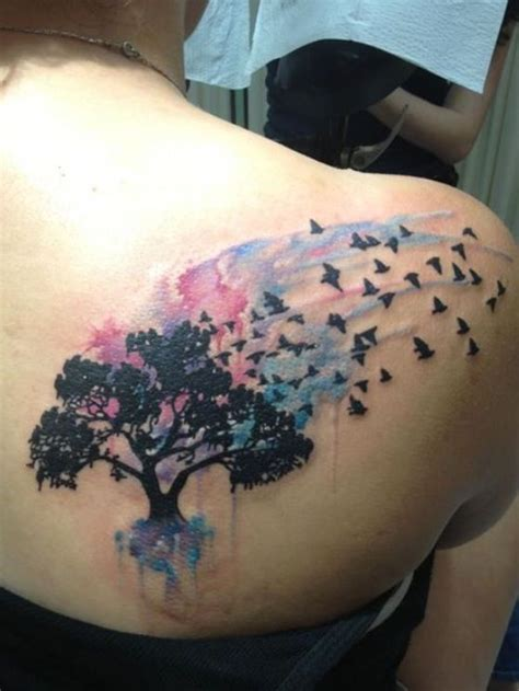 pinterest tattoo watercolor a beautiful watercolor tree tattoo tattoos pinterest