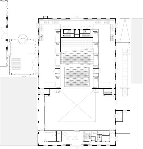 theatre floor plans glazed theatre by van dongen koschuch occupies former