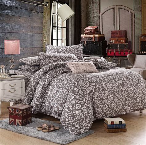 queen bed coverlet family polyester cotton reactive printing bedding sets