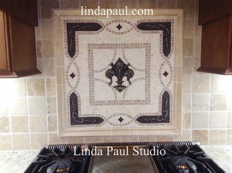 Tile Accents For Kitchen Backsplash by Fleur De Lis Backsplash Tile Mosaic Medallion Mosaics