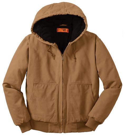 design work jacket design cornerstone 173 174 washed duck cloth hooded work jacket mens