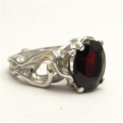Handmade Silver Rings With Gemstones - handmade sterling silver garnet gemstone