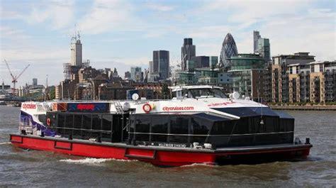 big boat in london city cruises sightseeing visitlondon