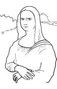 Mona Lisa Coloring Page Printable Coloring Coloring Pages