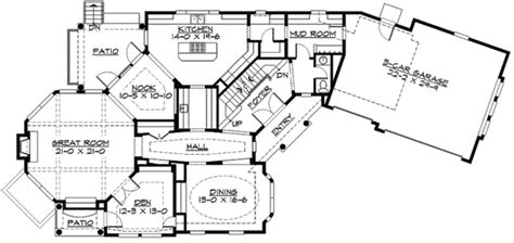craft room floor plans shingle home plan with craft room 23410jd