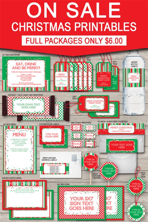 printable christmas gift tags party invitations
