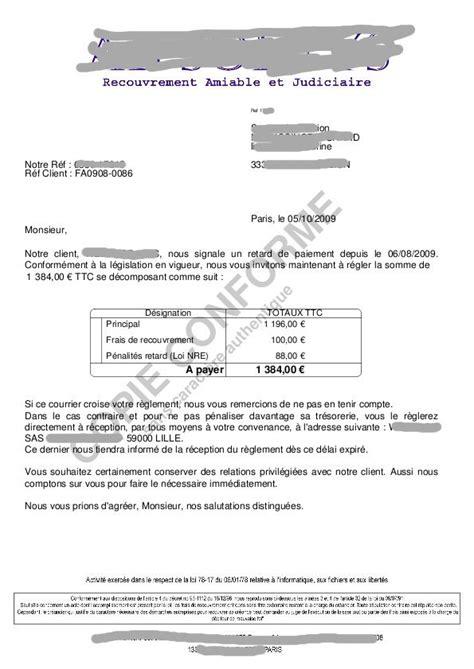 Lettre De Relance Visa Lettre De Relance Par Societe De Recouvrement
