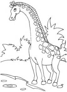 cartoon giraffe coloring pages kidscolouringpages org