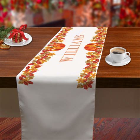 personalized name center table runner monogram