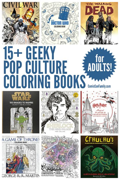 15 geeky pop culture coloring books for adults
