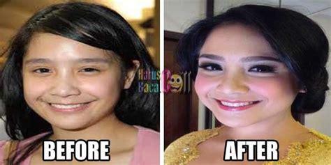 tutorial makeup nagita slavina kumpulan foto artis tanpa make up