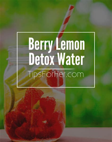 How To Make A Berry Detox Water by Berry Lemon Detox Water