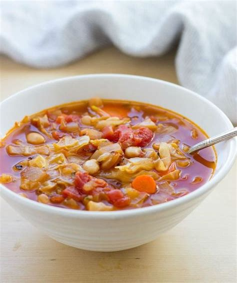 easy cabbage soup recipe vegetarian easy white bean and cabbage soup recipe cabbages the