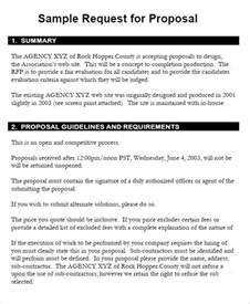 Request For Proposals Template 6 request for templates