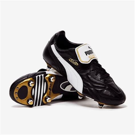 puma soccer cleats puma king pro sg soft ground socer shoes black white gold