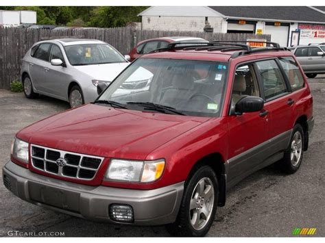 subaru forester red 2000 canyon red pearl subaru forester 2 5 s 9497551 photo