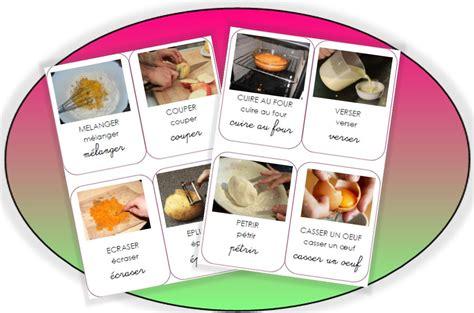 cuisine en maternelle les actions en cuisine p 233 pinette 224 l ecole vocabulaire