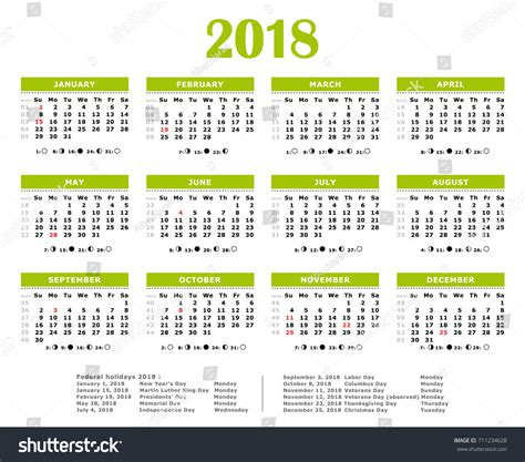 new year 2018 holidays 2018 calendar federal merry happy