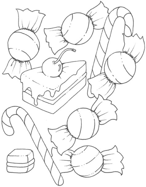 candy coloring pages pictures kids
