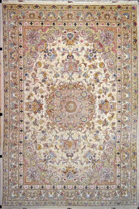 Floral Tabriz Silk Persian Rug Item Pa 2320 Rugs Silk