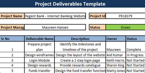 project deliverable template what are deliverables in a project project deliverables
