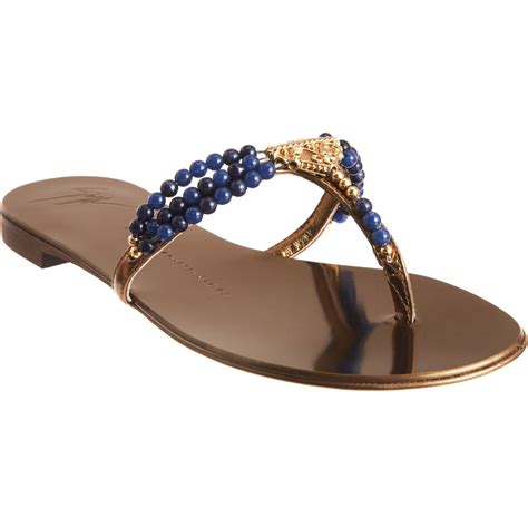 giuseppe zanotti gold sandals giuseppe zanotti sandal in gold bronze lyst