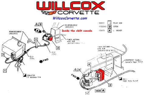 corvette power antenna relay location willcox
